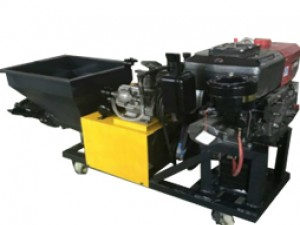 Diesel mortar spraying machine